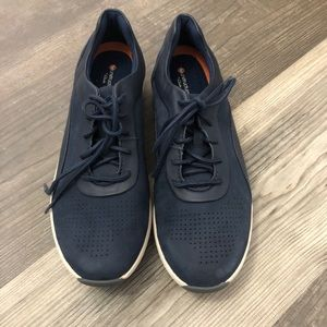 Clarks Un Cruise Lace Up Leather Sneaker Navy 8.5